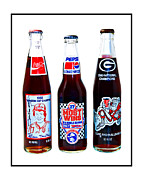 Win Bottles Prints - Collectable Cola Bottles Print by Susan Leggett