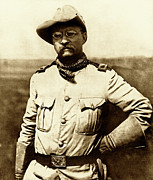 War Photo Framed Prints - Colonel Theodore Roosevelt Framed Print by War Is Hell Store