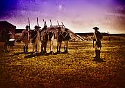 Revolutionary War Digital Art Prints - Colonial Soldiers at Fort Mifflin Print by Bill Cannon