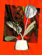 Tulip Mixed Media - Color Drained Bouquet by Sarah Loft