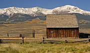 Split Rail Fence Prints - Colorado Barn Print by Dave Mills