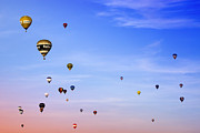 Weightless Framed Prints - Colorful balloons on colorful sky Framed Print by Angel  Tarantella