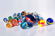 Spheres Metal Prints - Colorful Marbles Metal Print by Carlos Caetano