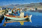 Kalloni Framed Prints - Colorful port Framed Print by George Atsametakis