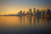 Burrard Inlet Prints - Colorful Sunrise Print by Jorge Ligason