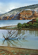 Wyoming Paintings - Colors of a Fragile Stillness by Ken Spiering