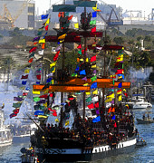 Pirates Prints - Colors of Gasparilla Print by David Lee Thompson