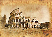 Postcard Art - Colosseum by Stefano Senise