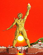 Rhodes Greece Framed Prints - Colossus Of Rhodes Framed Print by Eric Kempson