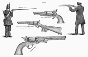 Fire Arms Prints - Colt Weapons, 1867 Print by Granger