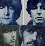 Fab Four Painting Framed Prints - Come Together Framed Print by Paul Lovering