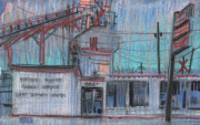 Industrial Pastels Originals - Commercial Industrial by Donald Maier