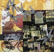 Ways Mixed Media Prints - Communications Print by Karen Lebentz