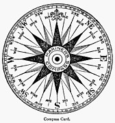 Compass Rose Print by Granger