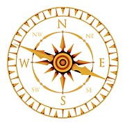 Art Product Photo Prints - Compass Rose Print by Pasieka