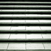 Stone Steps Prints - Concrete steps Print by Tom Gowanlock