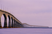 Reinforced Framed Prints - Confederation Bridge, Canada Framed Print by David Nunuk
