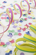 Confetti Posters - Confetti And Streamers Poster by Photo Division