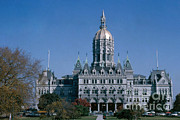 Capital Building Prints - Connecticut State Capitol Building Print by Photo Researchers