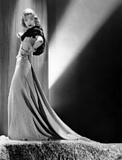 Gold Lame Prints - Constance Bennett, Circa 1930s Print by Everett