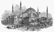 Byzantine Photos - Constantinople: St. Sophia by Granger