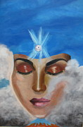 Contemplation Painting Originals - Contemplation by Diana Riukas