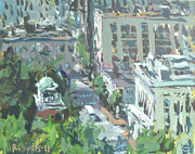 2011 Painting Prints - Contemporary Richmond Virginia Cityscape Painting Print by Robert Joyner