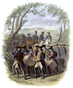 Drummer Art - Continental Army Band by Granger