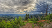 Utah Sky Photos - Converging Storms by Stephen Campbell