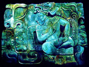Mesoamerican Paintings - Conversations in Mayan by Tania Williams