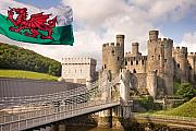 Conwy Posters - Conwy Castle in  North Wales UK Europe Poster by Mal Bray