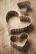 Wood Cutters Prints - Cookie cutters Print by Marlene Ford