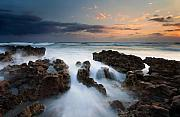 Rocks Metal Prints - Coral Cove Dawn Metal Print by Mike  Dawson