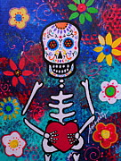 Corazon Day Of The Dead Print by Pristine Cartera Turkus