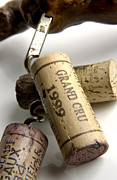 Outstanding Framed Prints - Corks of french wine Framed Print by Bernard Jaubert