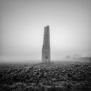Cornwall Photos - Cornish mine chimney by John Farnan