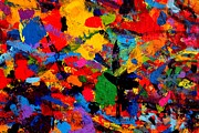 Acrylic Abstract Art Paintings - Cornucopia by John  Nolan