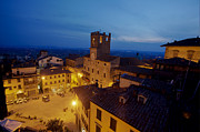 Hilltown Photos - Cortona at night 2 by Al Hurley