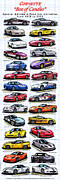 Collectible Sports Art Posters - Corvette Box of Candies - Special Edition and Indy 500 Pace Car Corvettes Poster by K Scott Teeters