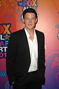 All Star Framed Prints - Cory Monteith At Arrivals For Fox Framed Print by Everett