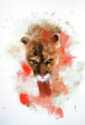 Puma Pastels - Cougar by Janice Lawrence