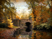 Rural Digital Art - Country Bridge by Jessica Jenney