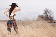 Cowboy Hat Photos - Country Girl by Cindy Singleton