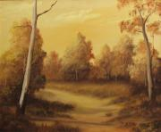 Sunset Reliefs - Country Road Sunset by John Cocoris