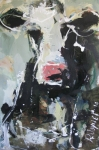 Cow Mixed Media - Cow Portrait by Robert Joyner