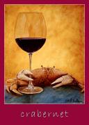 Wine Paintings - Crabernet... by Will Bullas