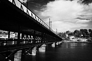 Bridge Deck Framed Prints - Craigavon double deck road and foot bridge across the river foyle in derry city county londonderry Framed Print by Joe Fox