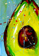 Food And Beverage Prints Posters - Crazy Avocado Poster by Patricia Awapara