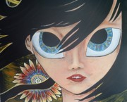 Blue Eyed Girl Prints - Creation Print by Randy Segura