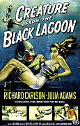 1950s Movies Photo Posters - Creature From The Black Lagoon Poster by Everett